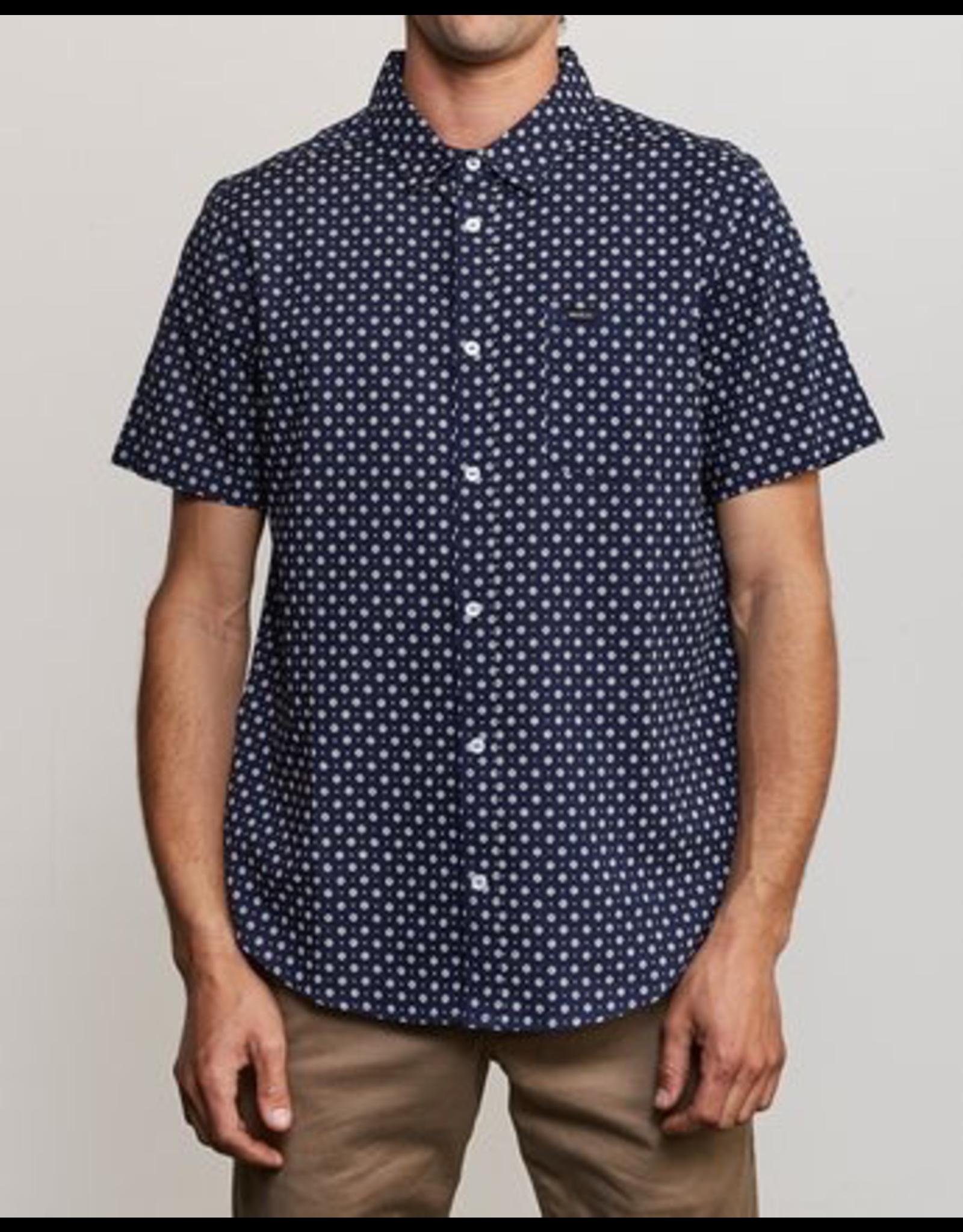 RVCA Gauze Dot Button-Up Shirt