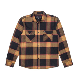 Brixton Bowery L/S Flannel - Black/Gold