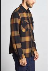 Brixton Bowery L/S Flannel - Black/Gold
