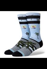 Stance Aloha Monkey Socks - Light Blue