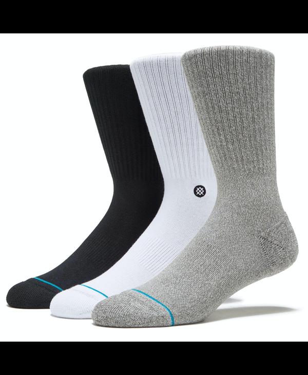 Icon 3 Pack Crew Socks - Multi