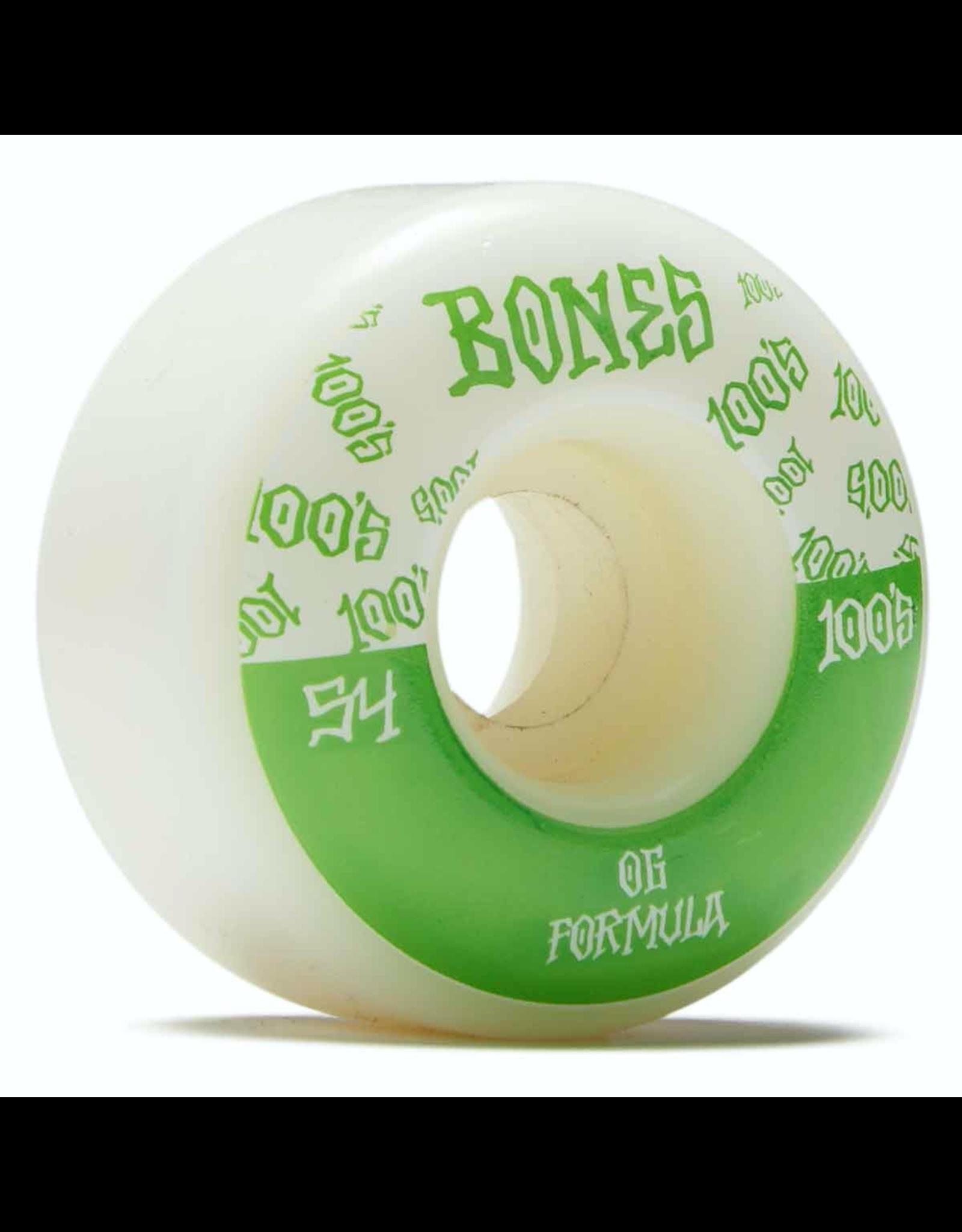 Bones 100's Logo V4 Wides 54mm