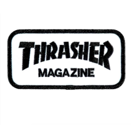 Thrasher Skate Mag Patch - White