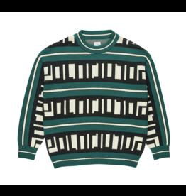 Polar Square Logo Knit Sweater - Green