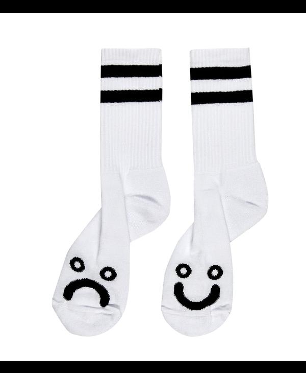 Happy Sad Socks - White