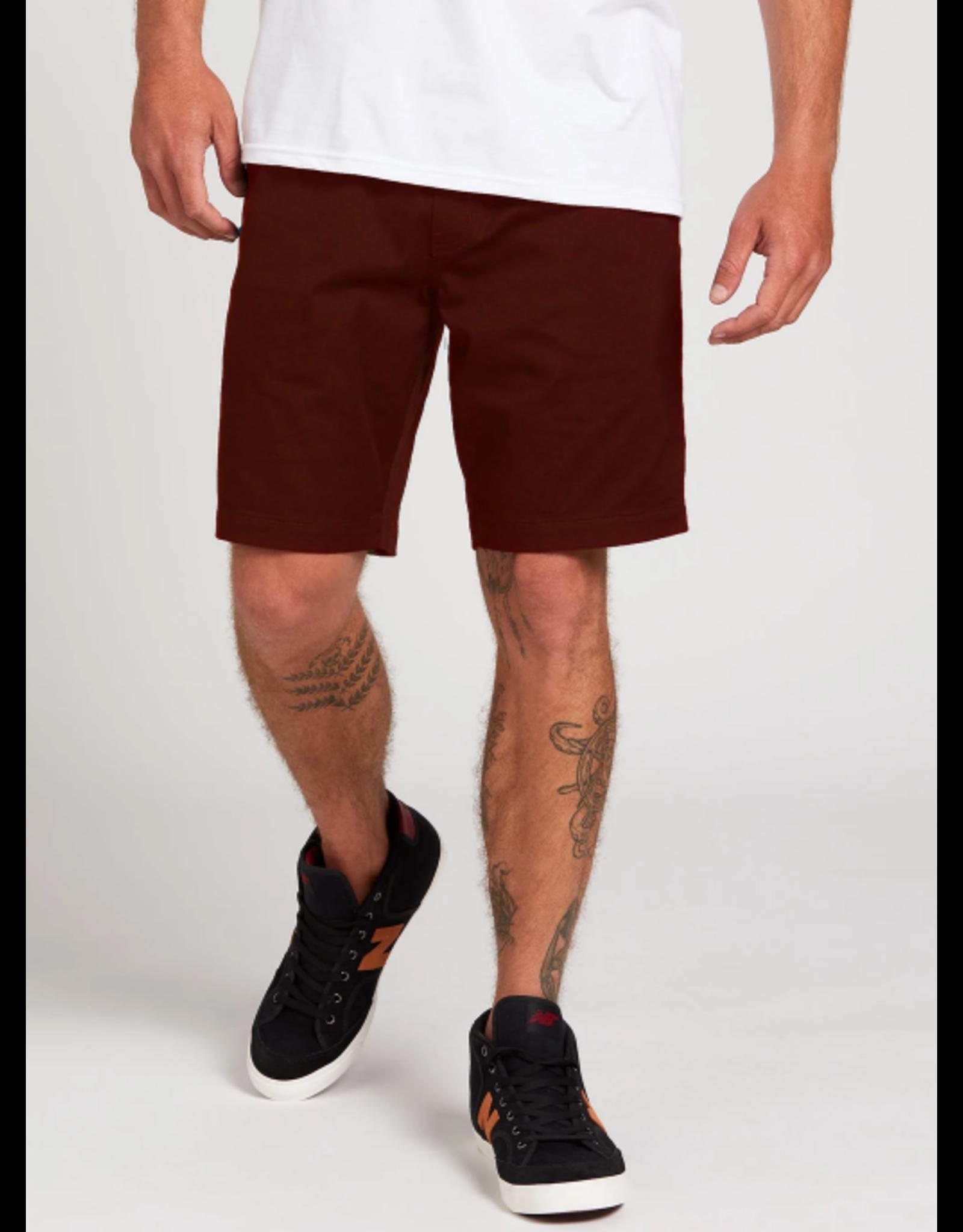 Volcom Frickin Elastic Waist Shorts - Plum