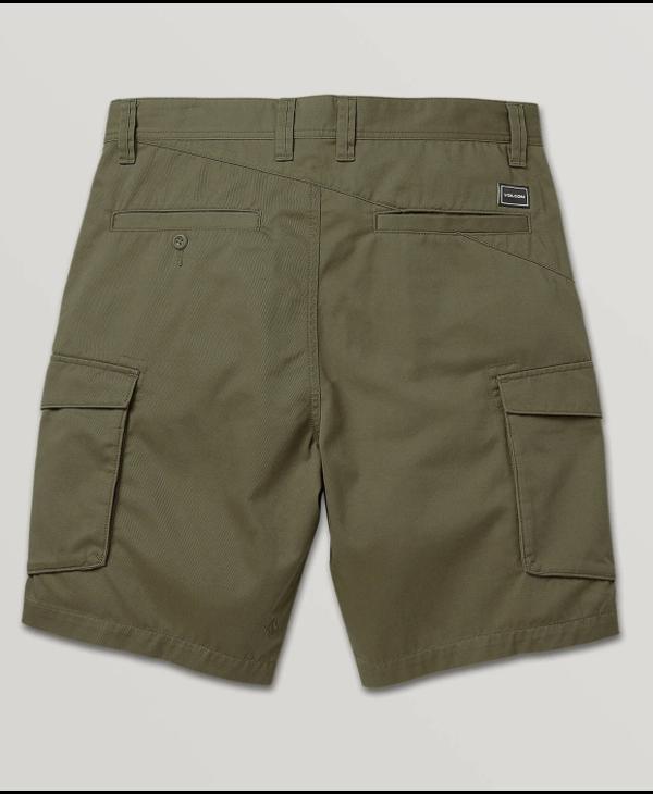 Bevel Cargo Shorts - Military