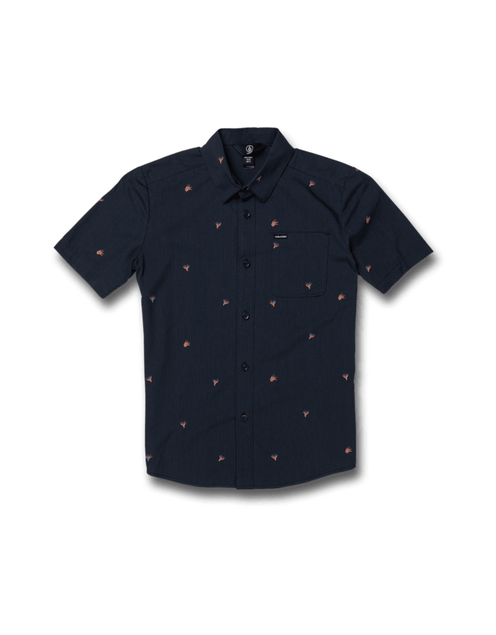 Volcom Boys Stone Tropics Short Sleeve Tee - Blue Black