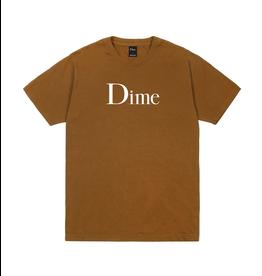 Dime Classic Logo T-Shirt - Coffee