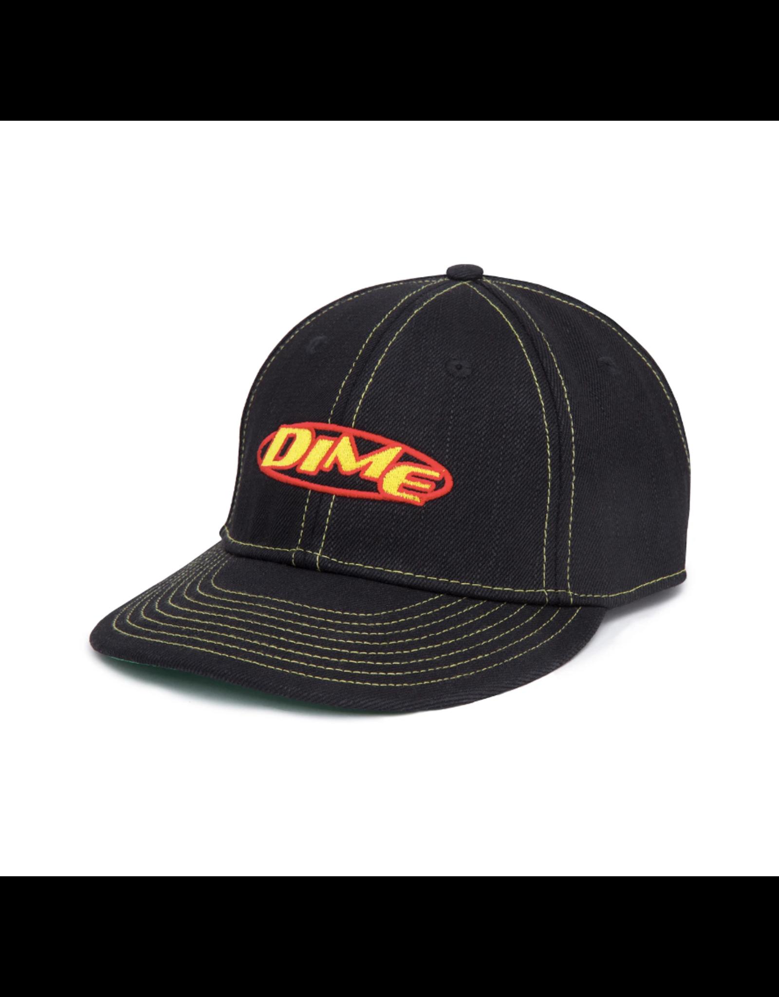 Dime Contrast Denim Hat - Black
