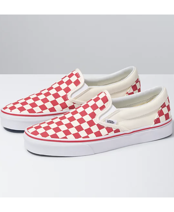 Classic Slip-On - Red Checkerboard