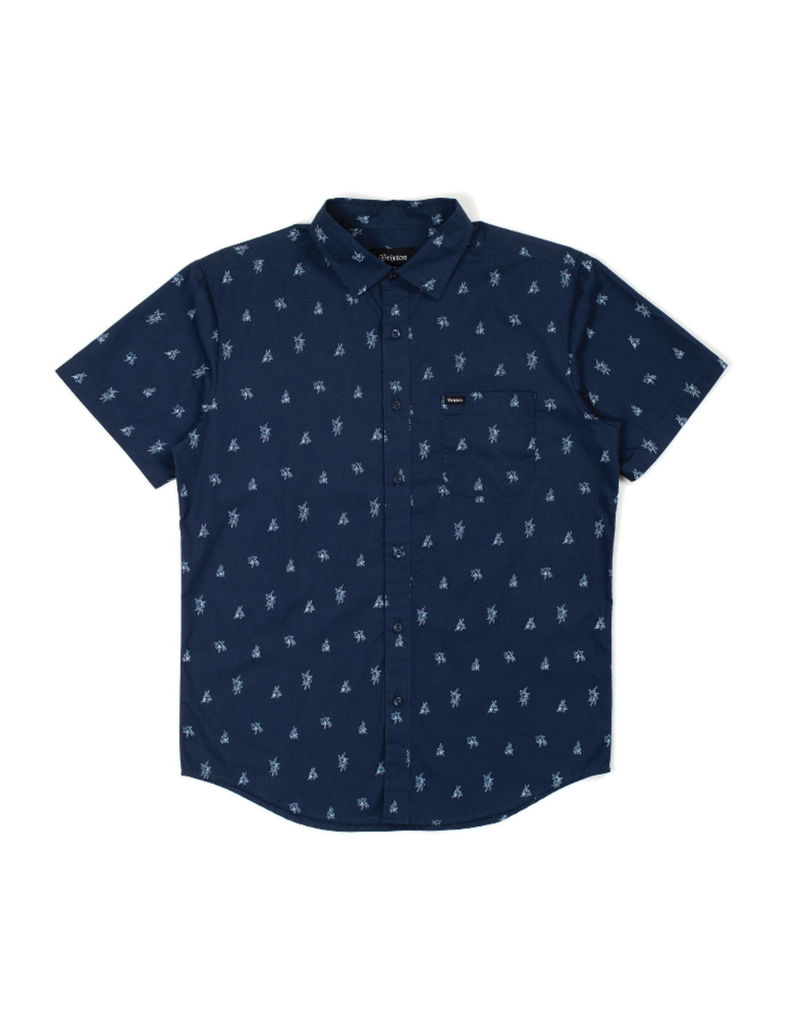 Brixton Charter Print Woven - Washed Navy
