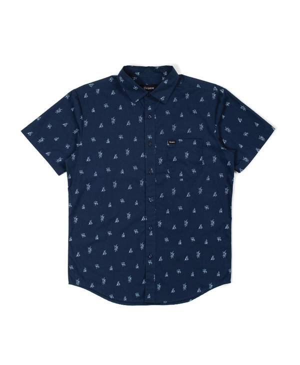 Charter Print Woven - Washed Navy