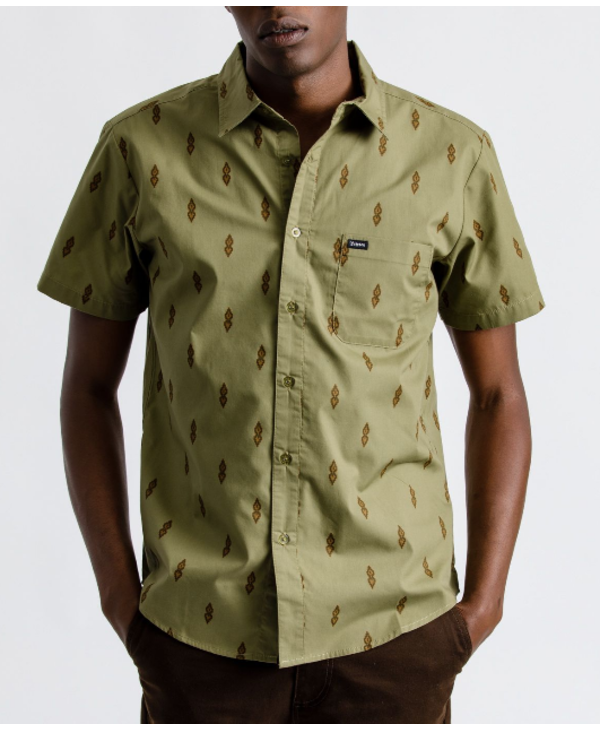 Charter Print Woven - Washed Olive