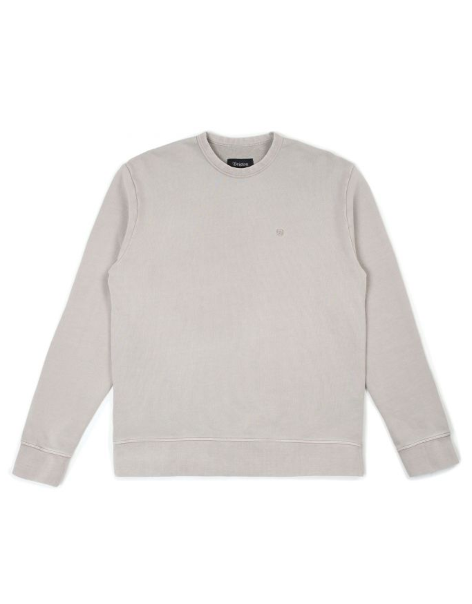 Brixton B-Shield French Terry Crew - Silver