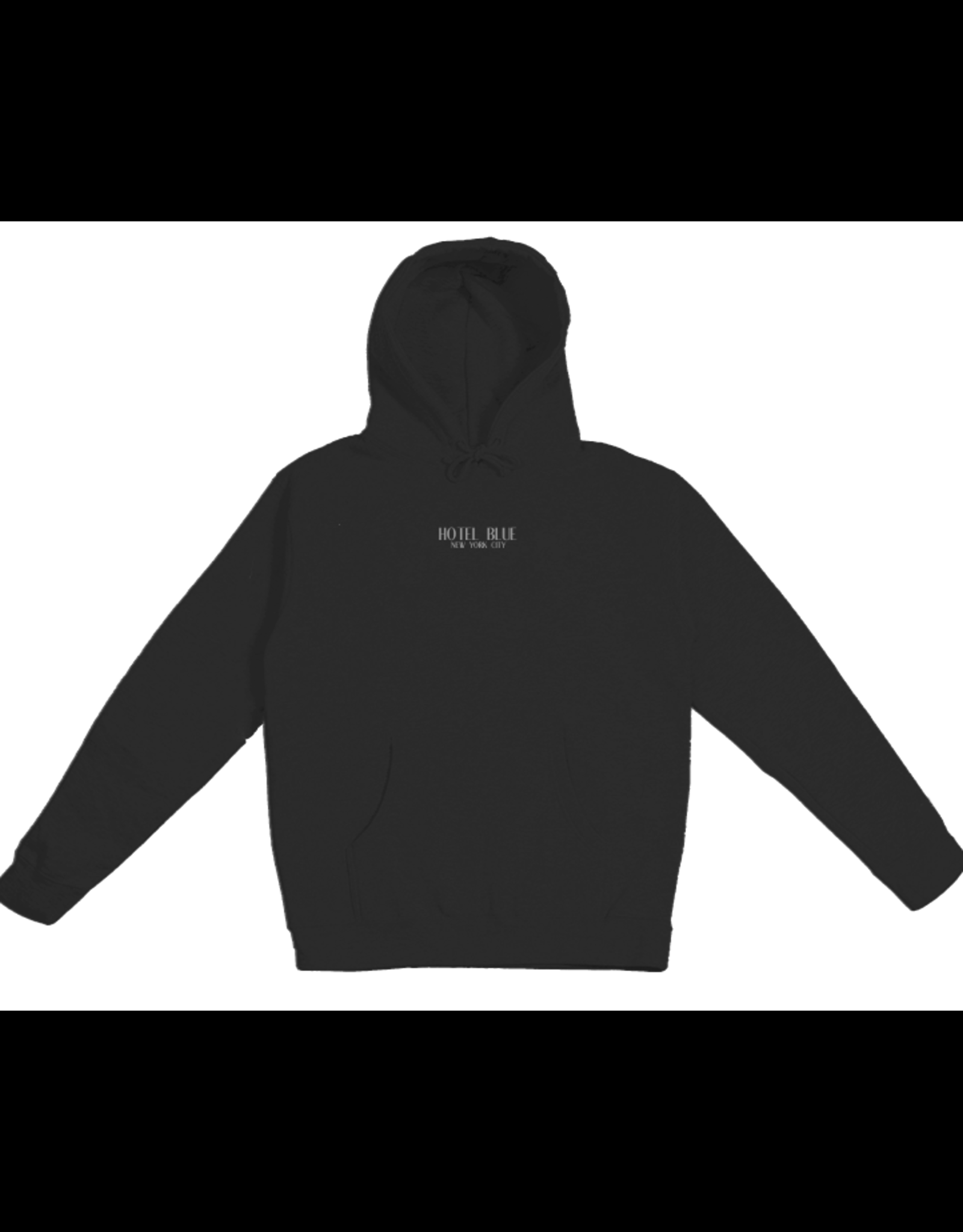 Hotel Blue Embroidered Logo Hoody - Black