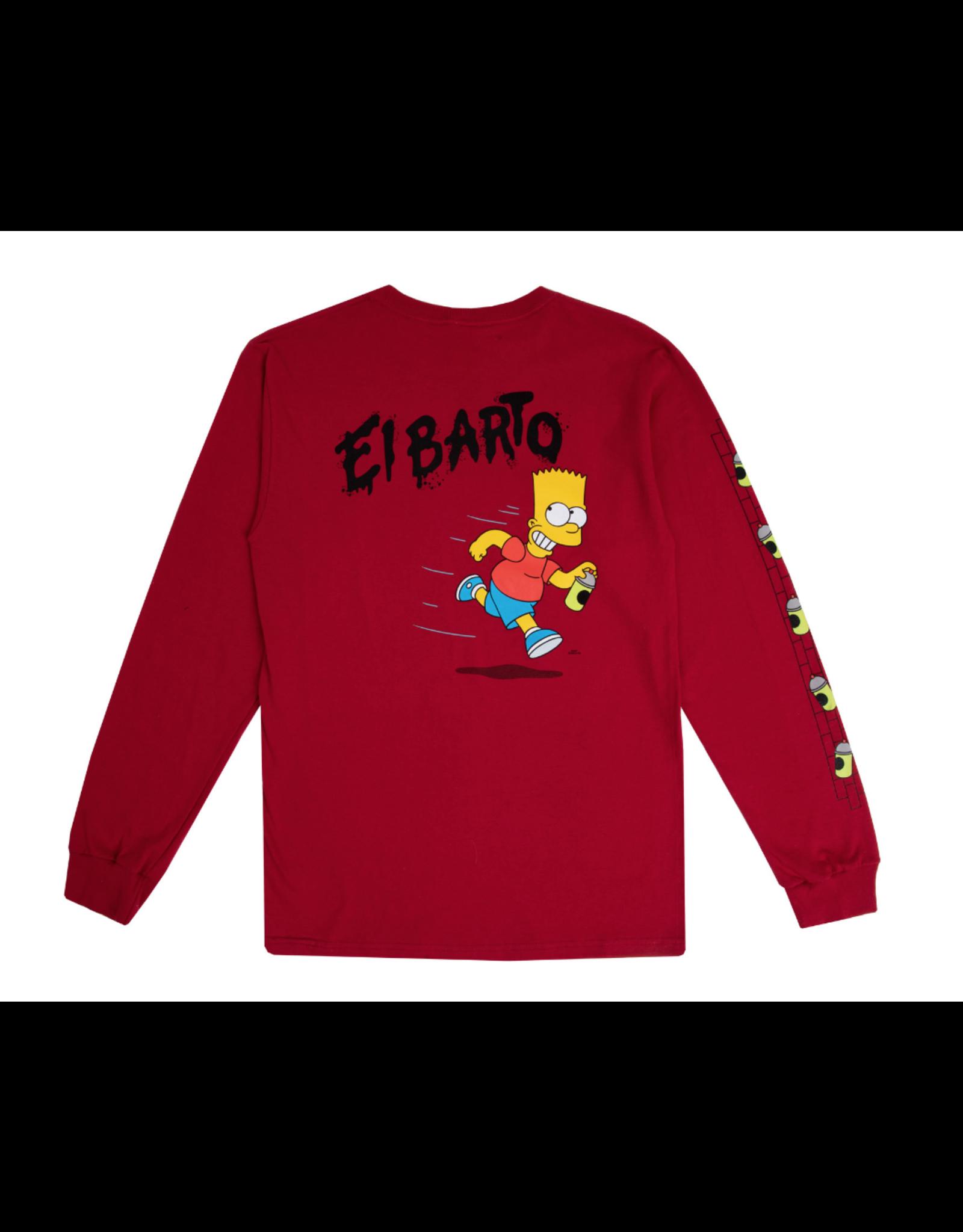 Vans The Simpsons El Barto T-Shirt - Red