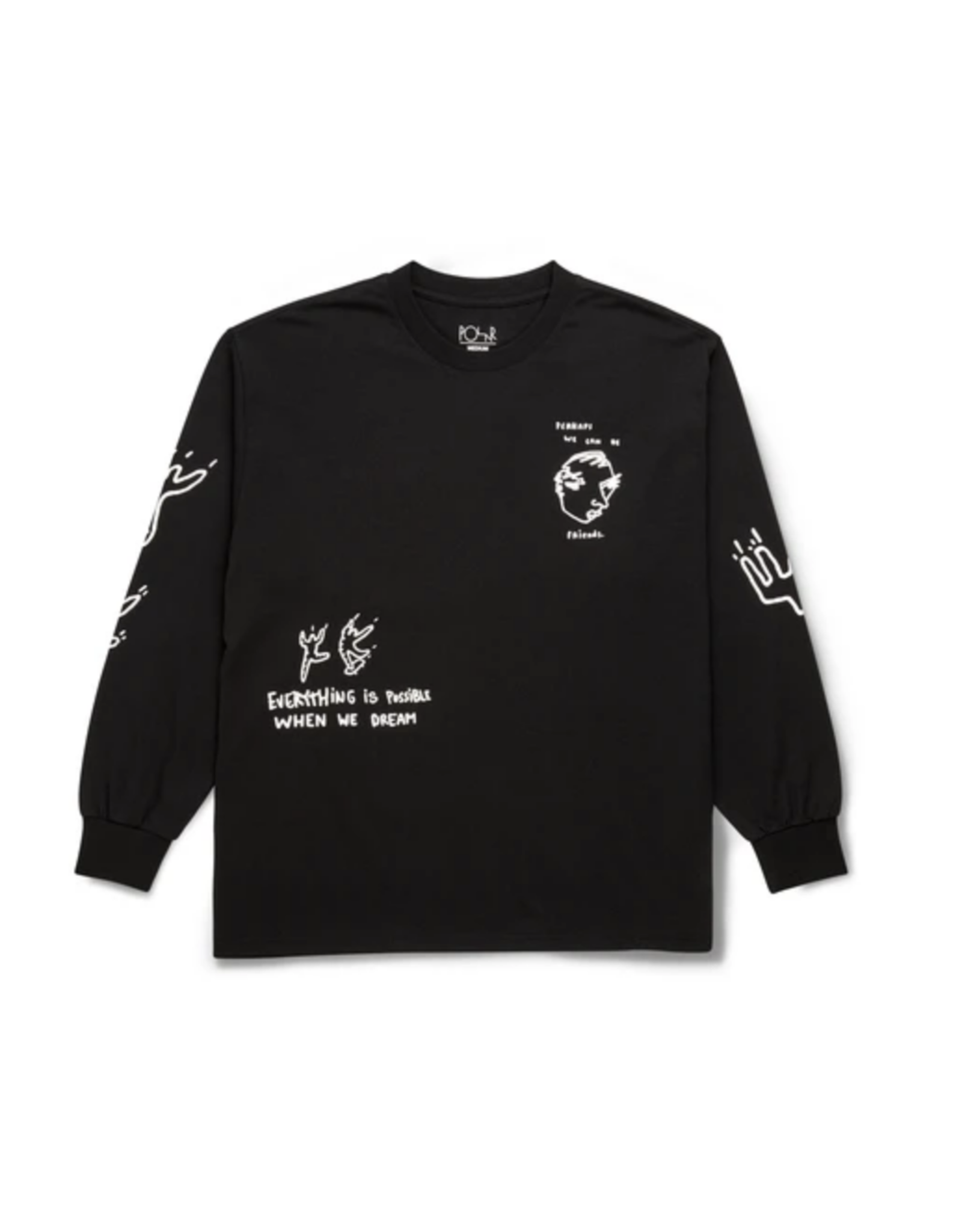 Polar Notebook L/S Tee - Black