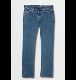 Volcom Solver Modern Fit Jeans - Mid Marbled Indigo