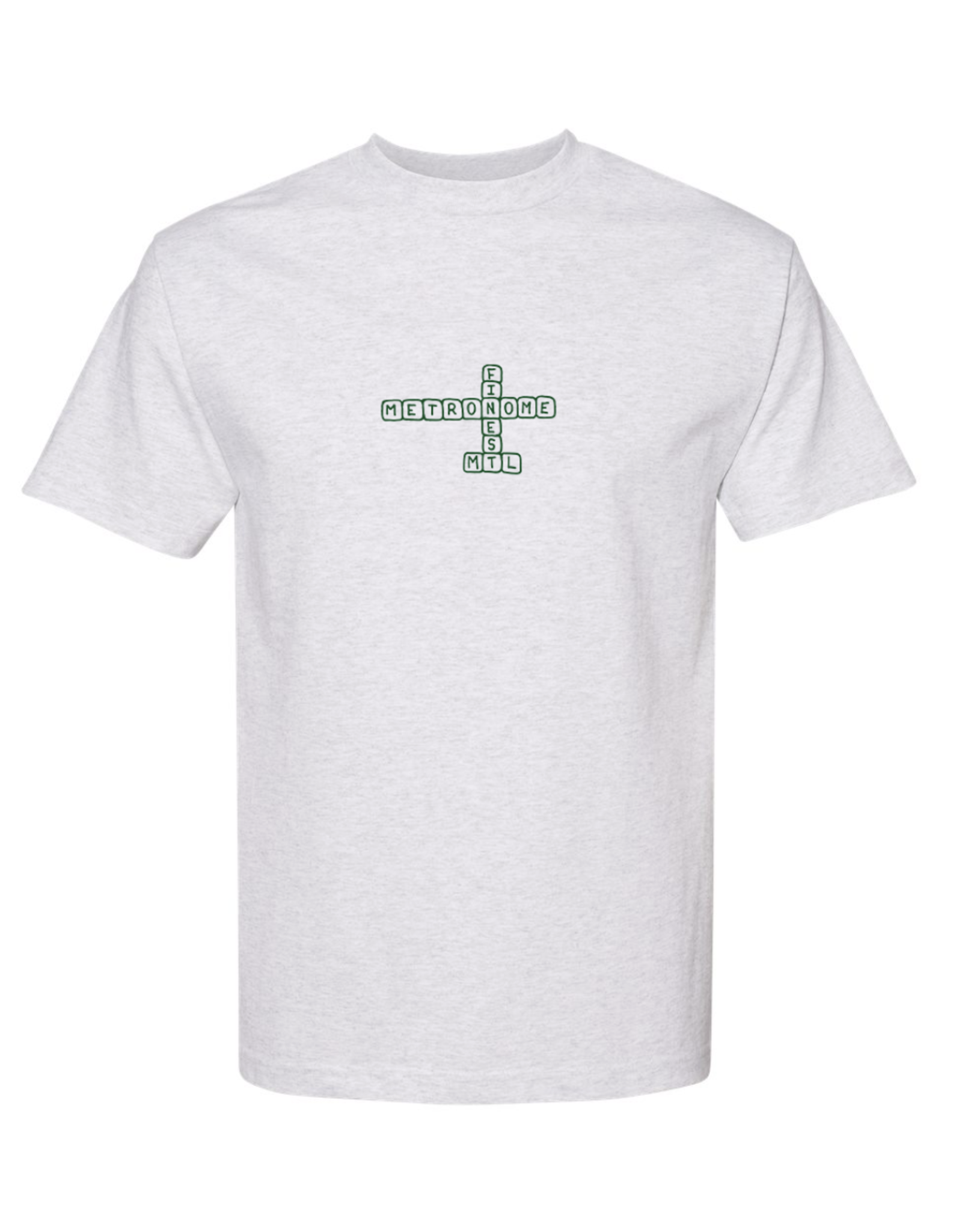 Metronome Scrabble logo T-Shirt - Ash Grey