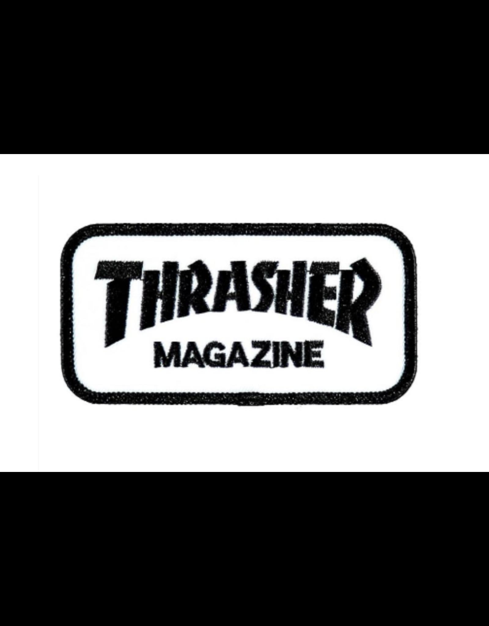 Thrasher Skate Mag Patch - White