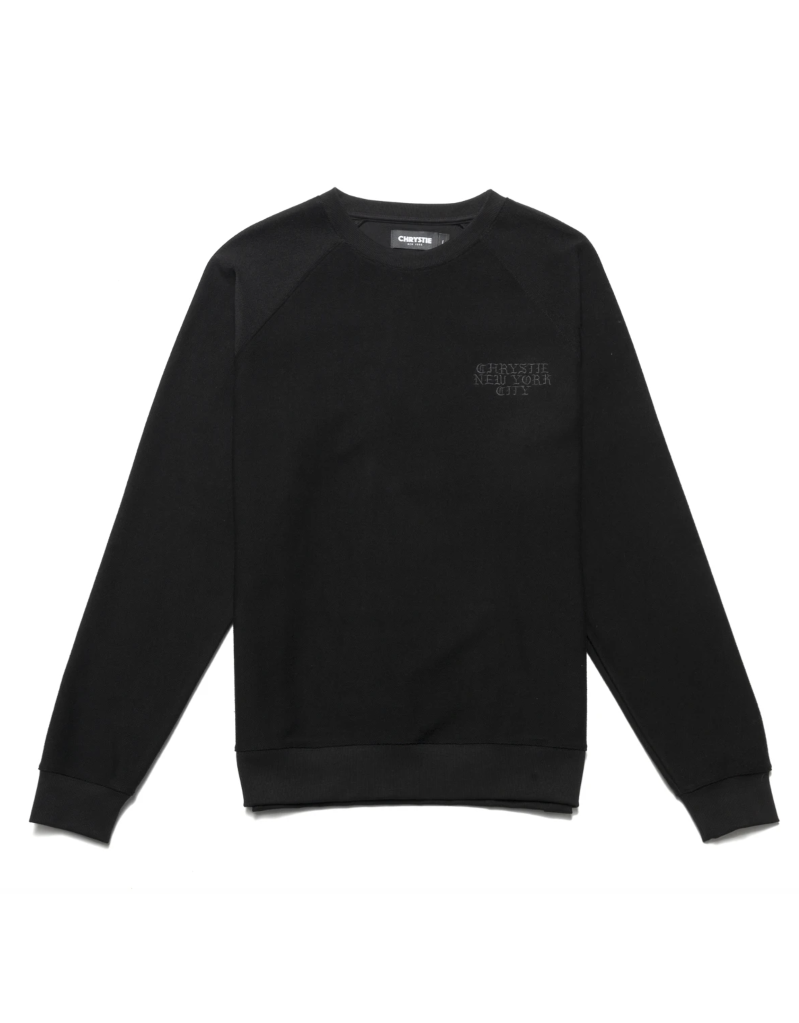 Chrystie Reversed French Terry Crewneck - Black