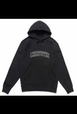 Chrystie Collegiate Logo Heavy Weight Hoodie - Black