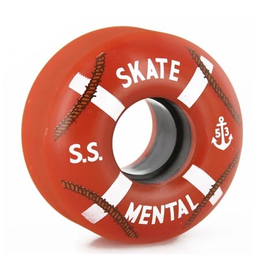 Skate Mental Cruiser Wheels 99A 53mm - Orange