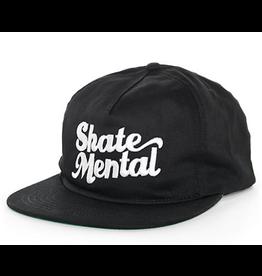 Skate Mental Script Logo Snapback - Black