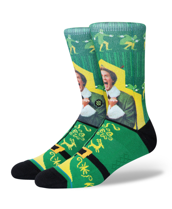 Elf I Know Him Socks - Green