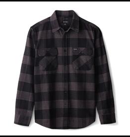 Brixton Bowery L/S Flannel - Black/Steel