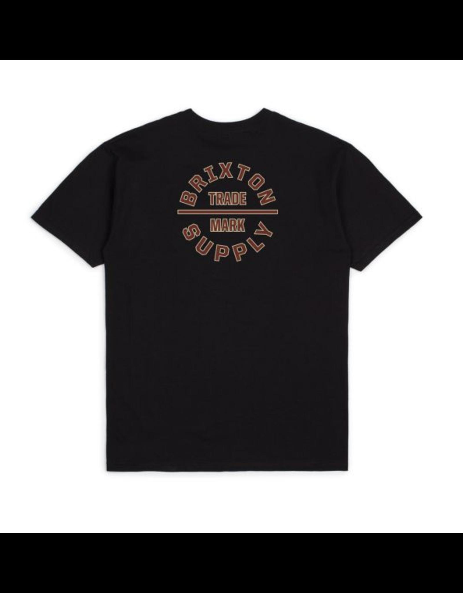 Brixton Oath V Standard Tee - Black/Dark Brick