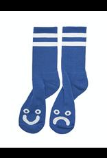 Polar Happy Sad Socks - Royal Blue