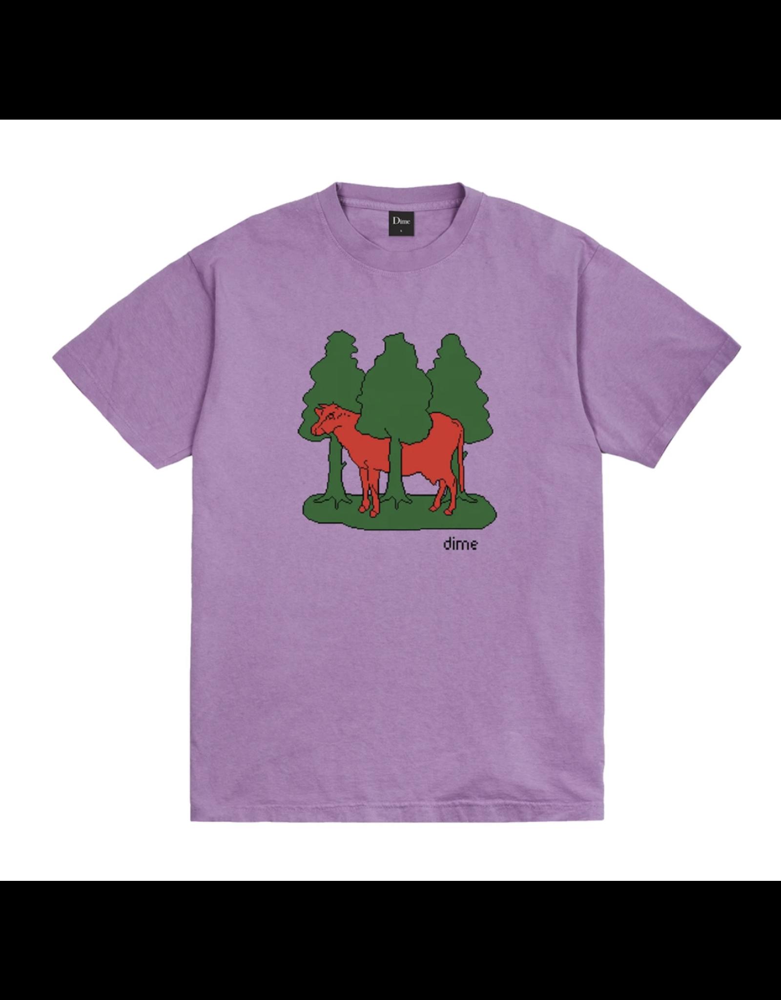 Dime Forest Cow T-Shirt - Lavender