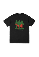Dime Forest Cow T-Shirt - Black