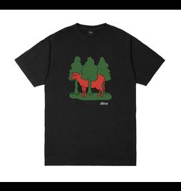 Dime Forest Cow T-Shirt - Black