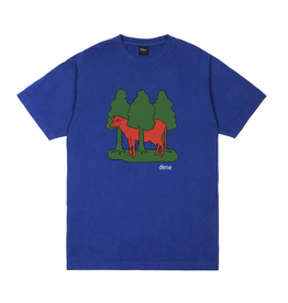 Dime Forest Cow T-Shirt - Royal Blue