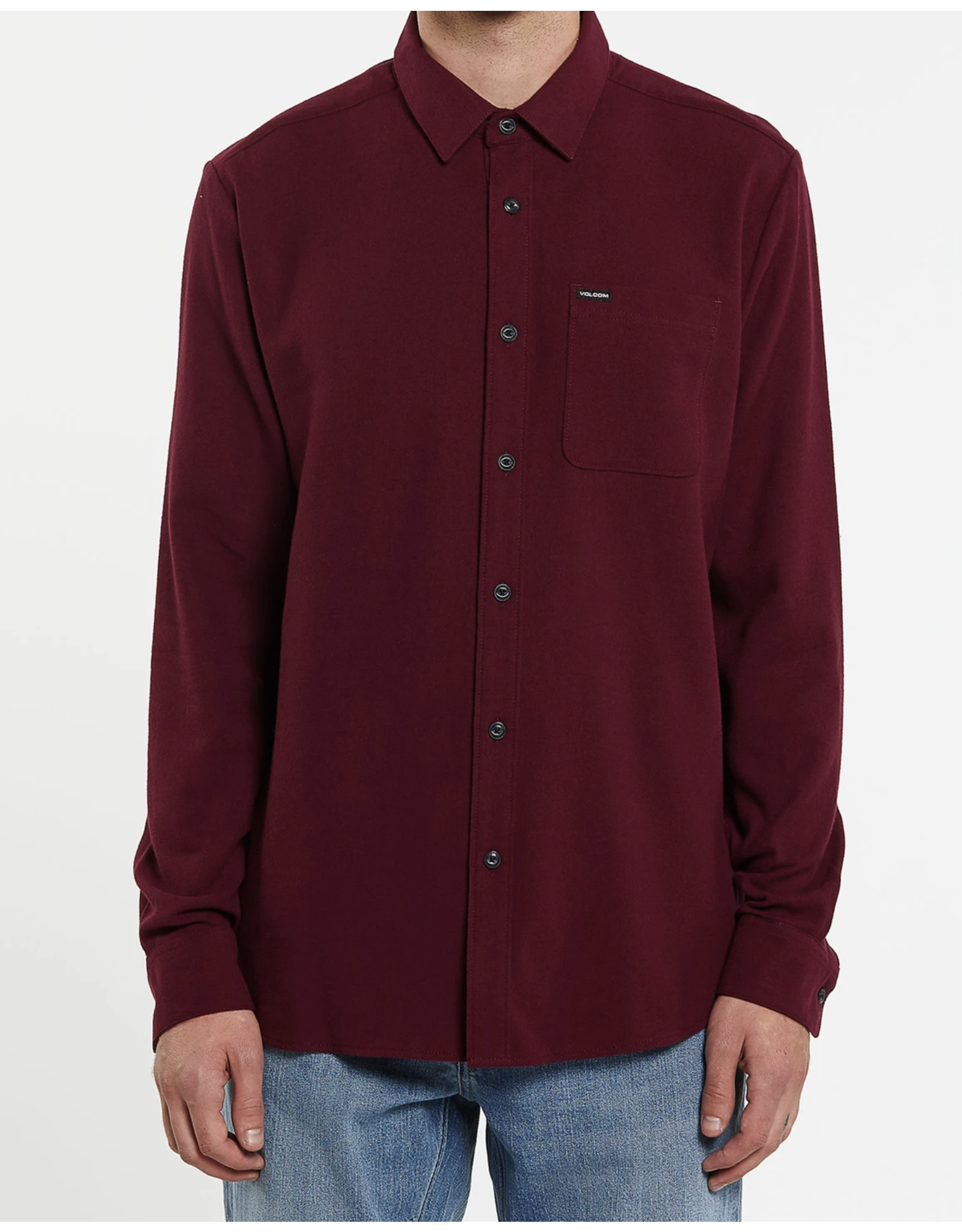 Volcom Caden Solid Long Sleeve Shirt - Port Royal