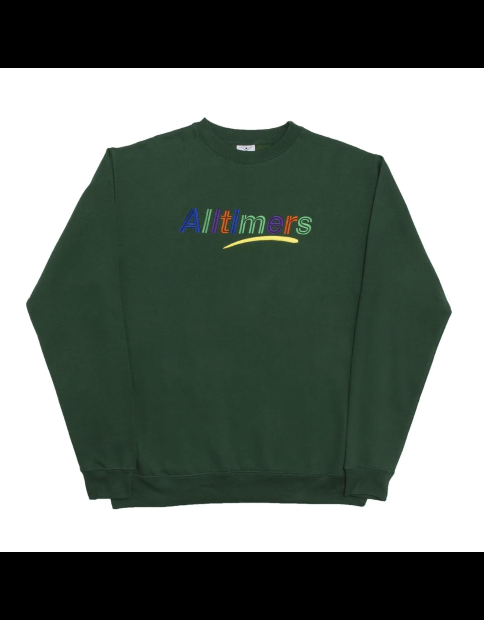 Alltimers Estate Embroidered Crew - Dark Green