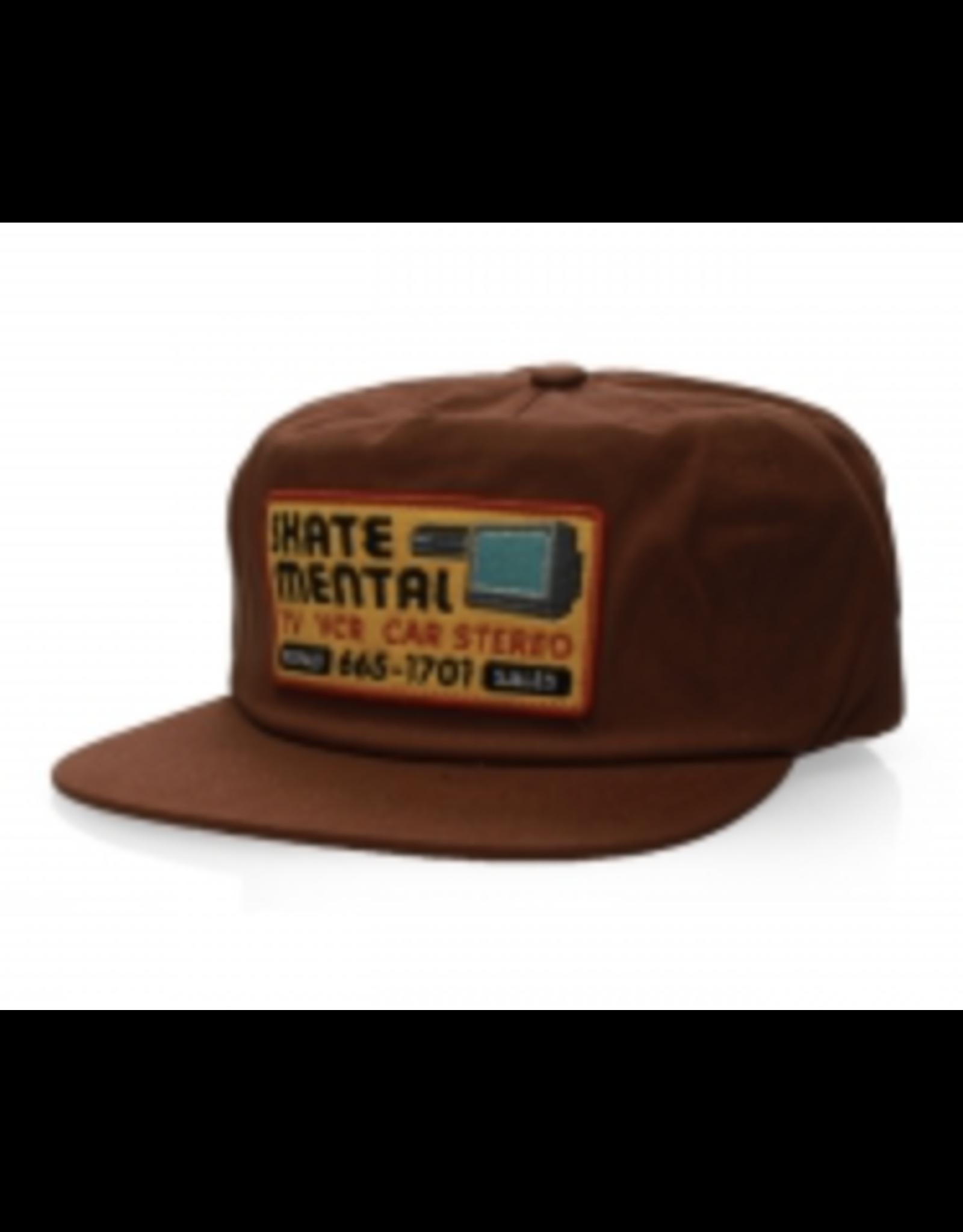 Skate Mental Electronics Repair Snapback - Brown