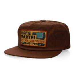 Skate Mental Electronics Repair Snapback - Brown