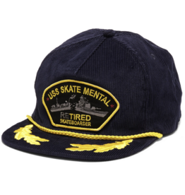 Skate Mental Retired Corduroy Snapback - Navy