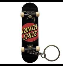 Santa Cruz Classic Dot Finger Board Keychain - Black