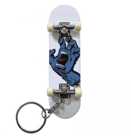Santa Cruz Screaming Hand Finger Board Keychain - White