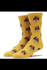 Skate Mental Dog Socks - Yellow