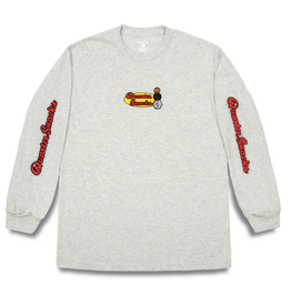 QuarterSnacks Middle School Longsleeve Tee - Ash Grey