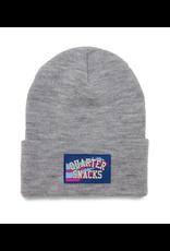 QuarterSnacks Rubber Label Beanie - Grey