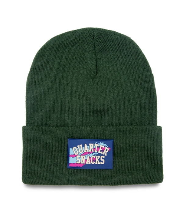 Rubber Label Beanie - Forest Green