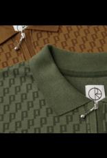 Polar Zip Polo Shirt - Golden Brown