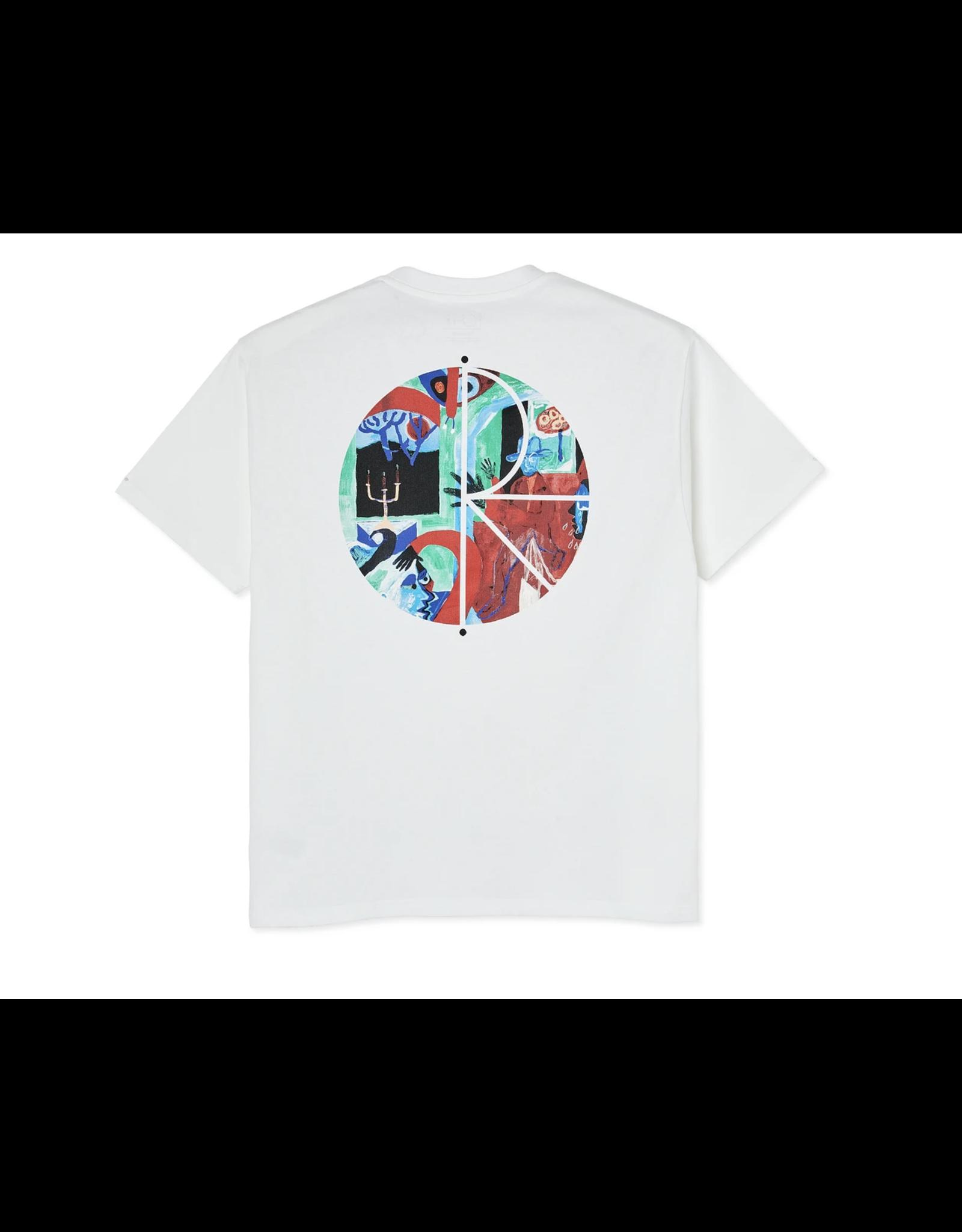 Polar Moth House Fill Logo Tee - White